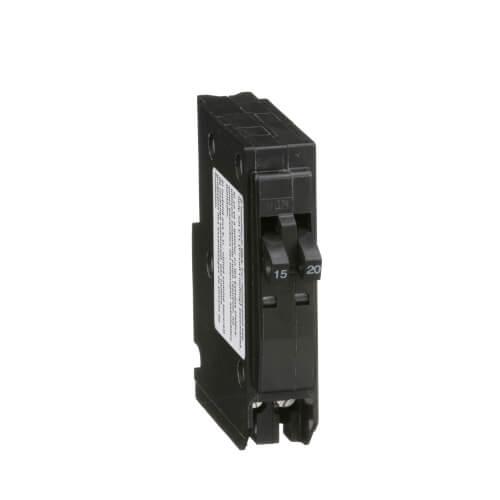 QO Single Pole Miniature Tandem Circuit Breaker (120/240V, 15/20A) Product Image