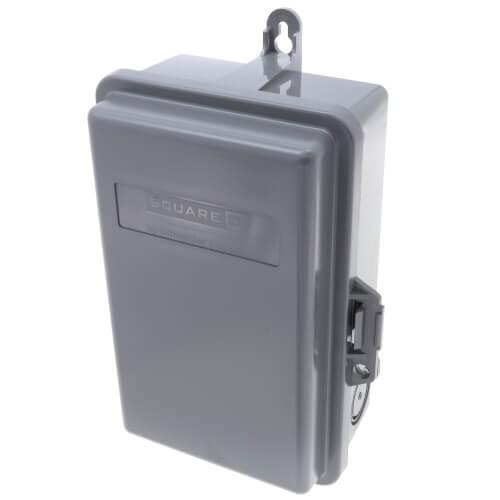QO Non-Fuse A/C Disconnect Switch (240V, 60A, NEMA 3R) w/ Weatherproof Enclosure  Product Image