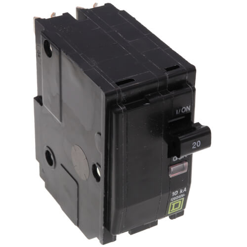 QO 2 Pole Standard Miniature Circuit Breaker (120/240V AC, 20A, 10 kA) Product Image