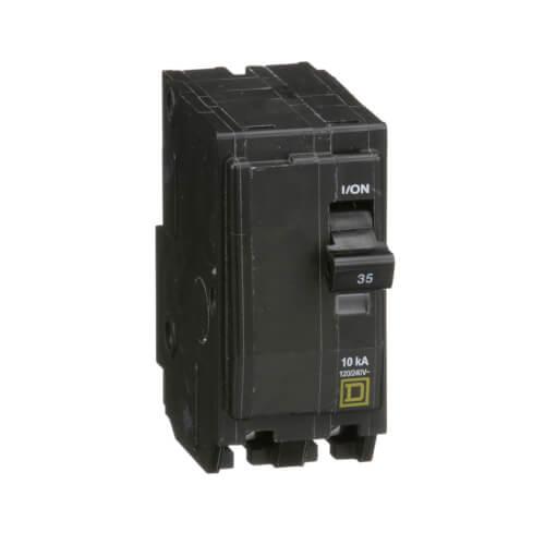 QO 2 Pole Standard Miniature Circuit Breaker (120/240V AC, 35A, 10 kA) - Pack of 5 Product Image