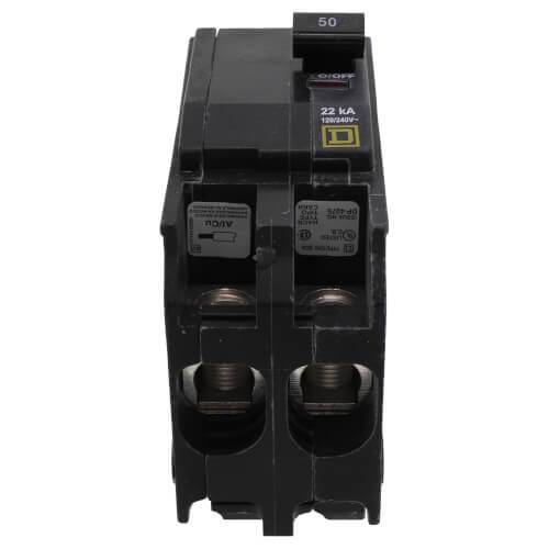 QO 2 Pole Standard Miniature Circuit Breaker (120/240, 50A, 22kA) Product Image