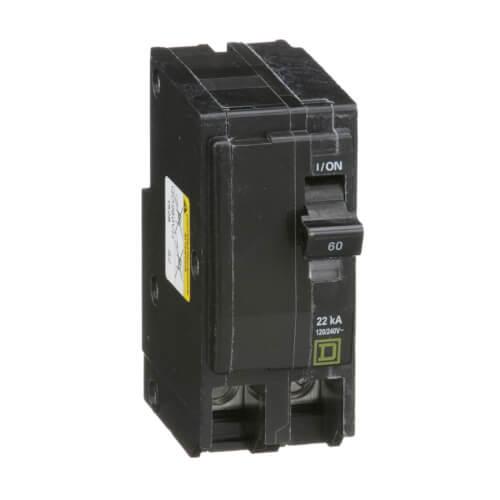 QO 2 Pole Standard Miniature Circuit Breaker (120/240, 60A, 22kA) Product Image