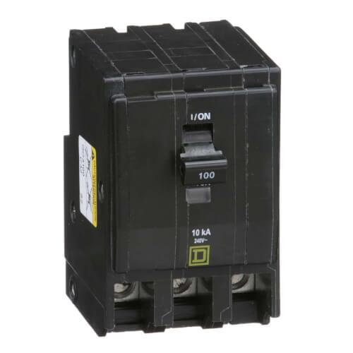 QO 3 Pole Miniature Circuit Breaker (120/240V, 100A, 10kA) Product Image