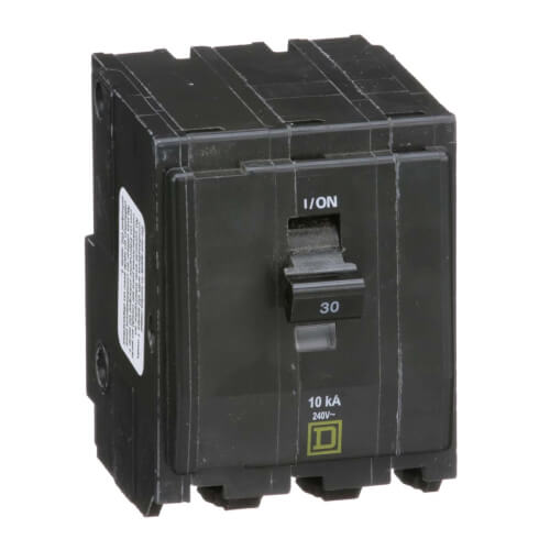 QO 3 Pole Miniature Circuit Breaker (120/240V, 30A, 10kA) Product Image