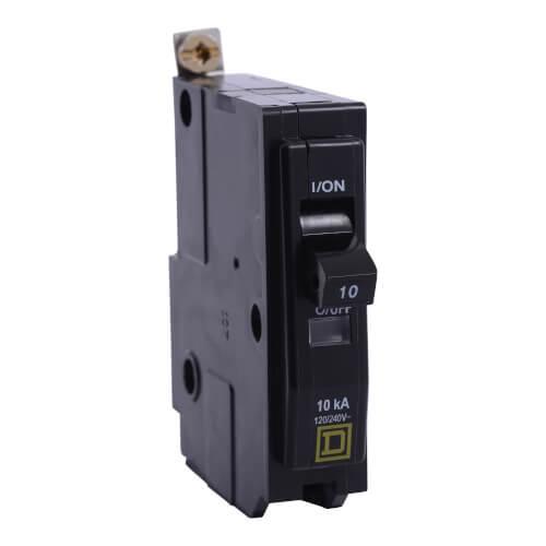 QO Single Pole 10A Miniature Circuit Breaker  Product Image