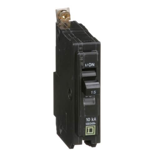 QO Single Pole Bolt On Miniature Circuit Breaker (120/240V, 15A, 10kA) Product Image