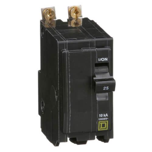QO 2 Pole Bolt On Miniature Circuit Breaker (120/240V, 25A, 10kA) Product Image