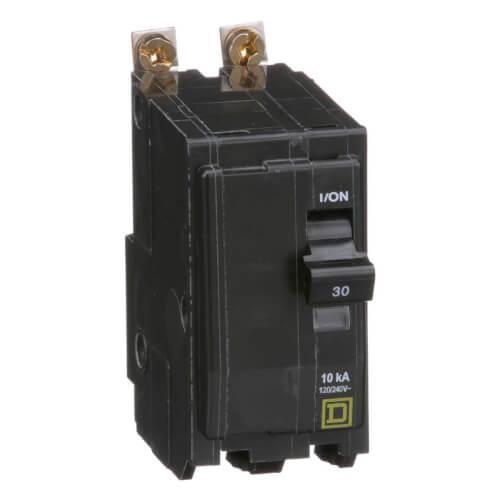 QO 2 Pole Bolt On Miniature Circuit Breaker (120/240V, 30A, 10kA) Product Image
