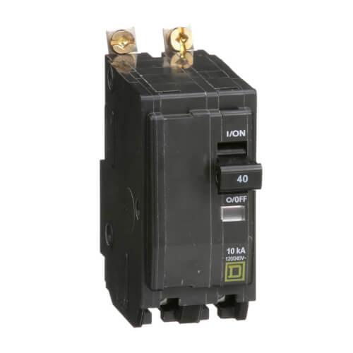 QO 2 Pole Bolt On Miniature Circuit Breaker (120/240V, 40A, 10kA) Product Image