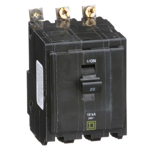 QO 3 Pole Bolt On Miniature Circuit Breaker (120/240V, 20A, 10kA) Product Image