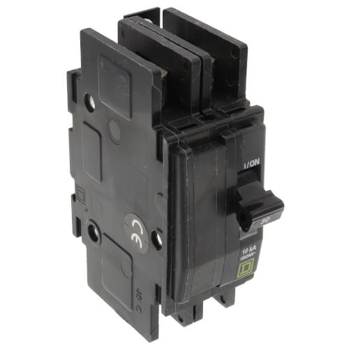 QOU 2 Pole Miniature Circuit Breaker (120/240V, 30A, 10kA) Product Image