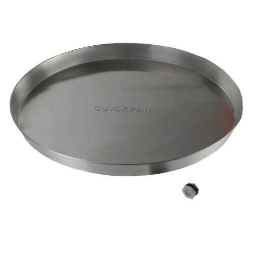 "28"" Aluminum Water Heater Pan w/ PVC Drain Fitting Product Image"
