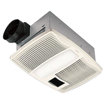 "QTX110HL Ultra Silent Heater Combination Ventilation Fan w/ Light, 6"" Round Ducting (110 CFM) Product Image"