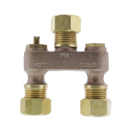 "1/2"" Brass Anti-Sweat Valve w/ Nuts Product Image"
