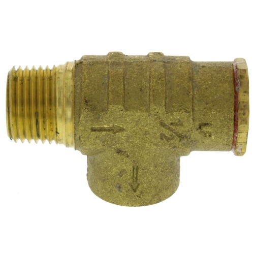 """1/2"""" Brass Relief Valve (75 PSI) Non-Adjustable (Lead Free) Product Image"""