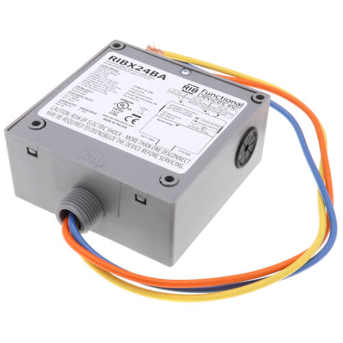 Enclosed .5/20A Amp Relay and Adjustable Current Switch Combination Product Image