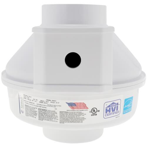 "RN Series Inline Radon Fan, 4.5"" Pipe (169 CFM) Product Image"