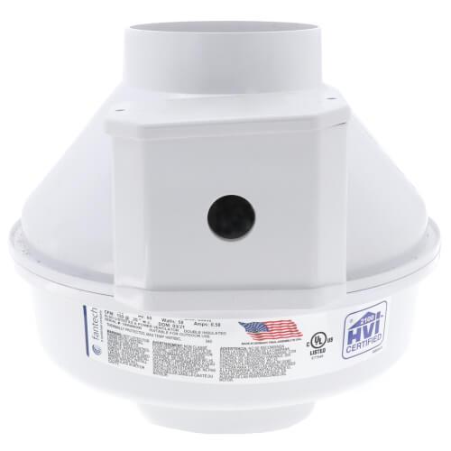 "RN Series Inline Radon Fan, 4.5"" Pipe (166 CFM) Product Image"