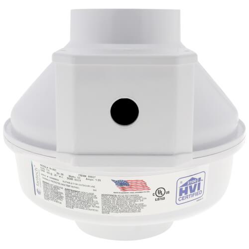 "RN Series Inline Radon Fan, 4.5"" Pipe Product Image"