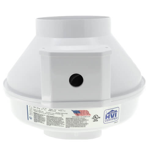 "RN Series Inline Radon Fan, 5 7/8"" Pipe (377 CFM) Product Image"
