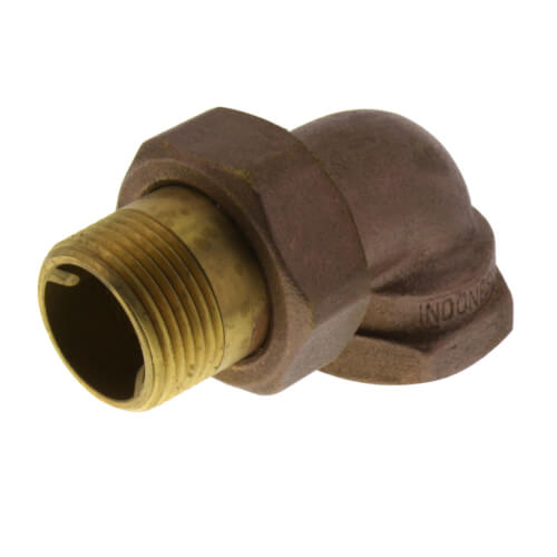 "1"" (FIP x Male Union) Brass Radiator Union Elbow Product Image"