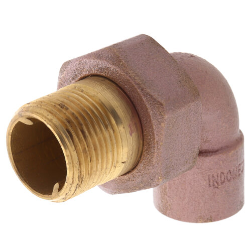 "3/4"" (CXC x Male Union) Brass Radiator Union Elbow Product Image"