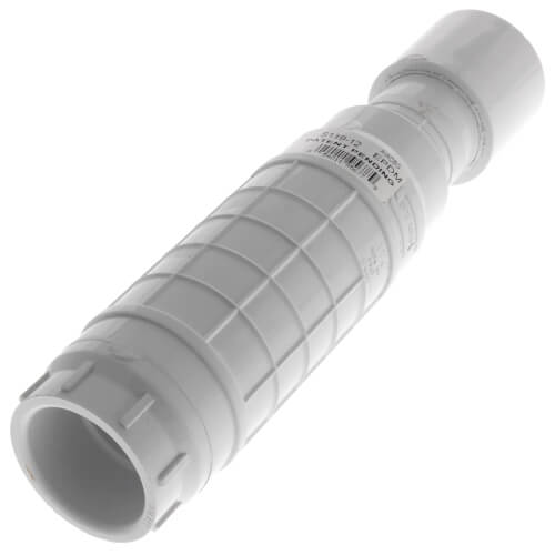 """1-1/4"""" PVC Sch. 40 Repair Coupling (Soc x Soc - PVC White with EPDM O-ring) Product Image"""