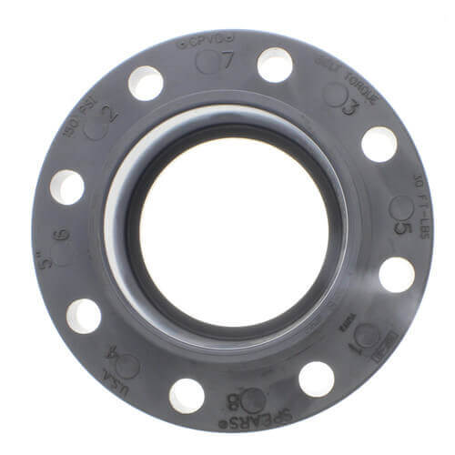 """8"""" CPVC Schedule 80 Van Stone Flange w/ Plastic Solid Ring (Socket) Product Image"""