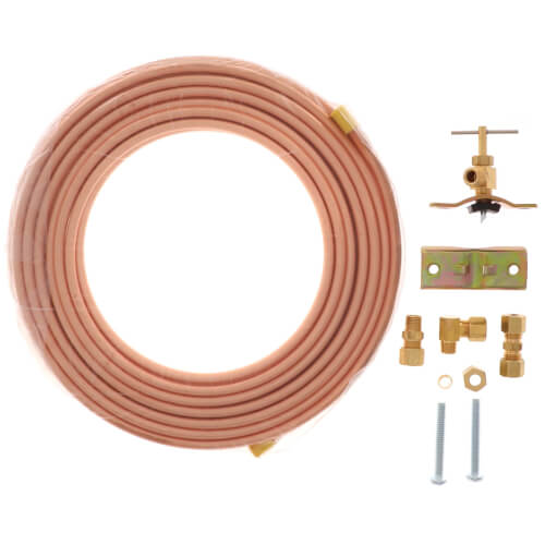 "1/4"" x 25' Icemaker or Humidifier Kit, Copper Tubing (Lead Free) Product Image"