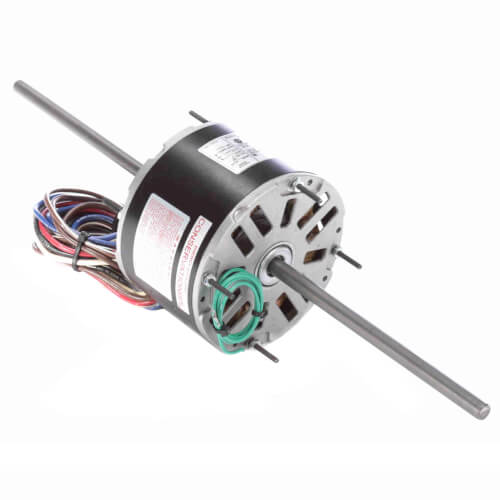 "5-5/8"" 3-Speed Double Shaft Fan/Blower Motor (208-230V, 1075 RPM, 1/6 HP) Product Image"