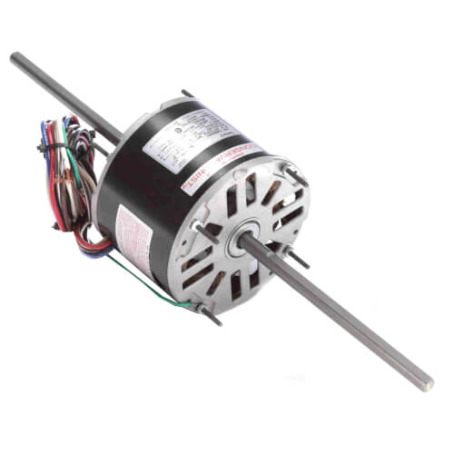 """5-5/8"""" 3-Speed Double Shaft Fan/Blower Motor (208-230V, 1075 RPM, 1/4 HP) Product Image"""