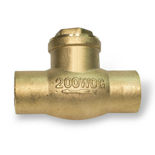 """3/4"""" Solder Ends Swing Check Valve, Lead Free Product Image"""