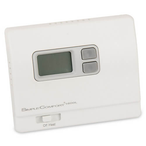 Non-Programmable SimpleComfort Heat Only Thermostat (w/o Fan Switch) - Single Stage (Black) Product Image