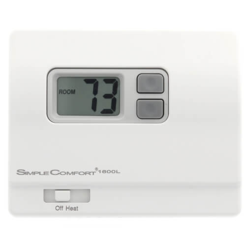 Non-Programmable SimpleComfort Heat Only Thermostat (w/o Fan Switch) - Single Stage Product Image