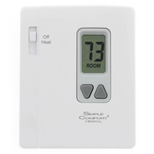 Non-Programmable SimpleComfort Heat Only Vertical Thermostat (w/o Fan Switch) - Single Stage Product Image