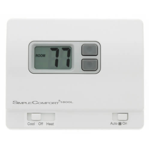 Non-Programmable SimpleComfort Heat Only Thermostat (w/ Fan Switch) - Single Stage Product Image