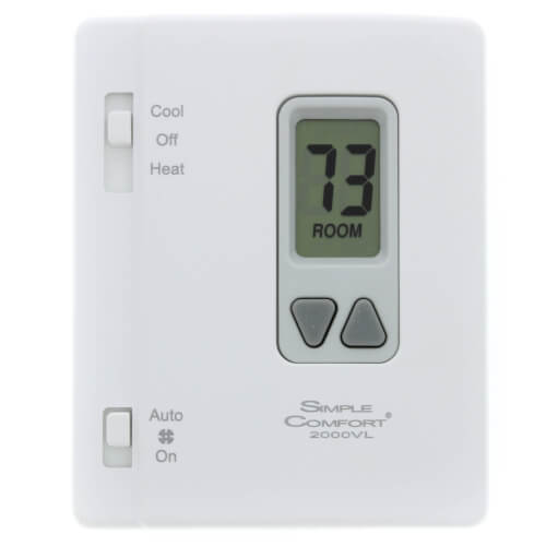 Vertical Non-Programmable SimpleComfort Thermostat - 1 Heat/1 Cool/1 Heat Pump Product Image