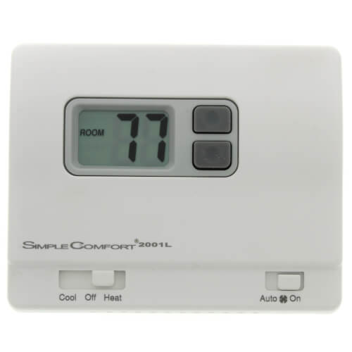 Non-Programmable SimpleComfort Thermostat - 1 Heat/1 Cool/1 Heat Pump (4 or 5 Wire Compatible) Product Image