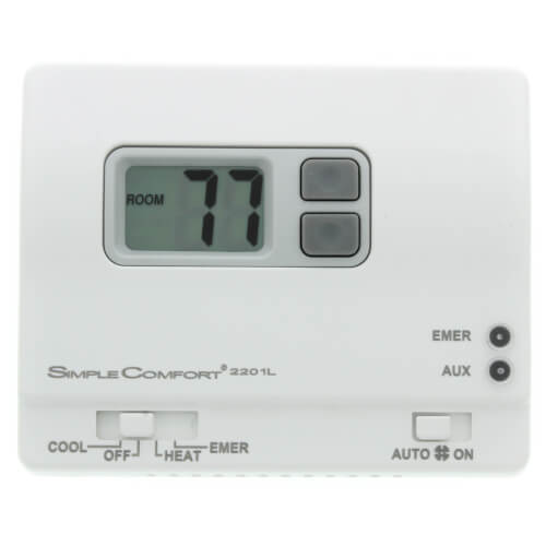 Non-Programmable SimpleComfort Thermostat - 2 Heat/1 Cool Heat Pump on