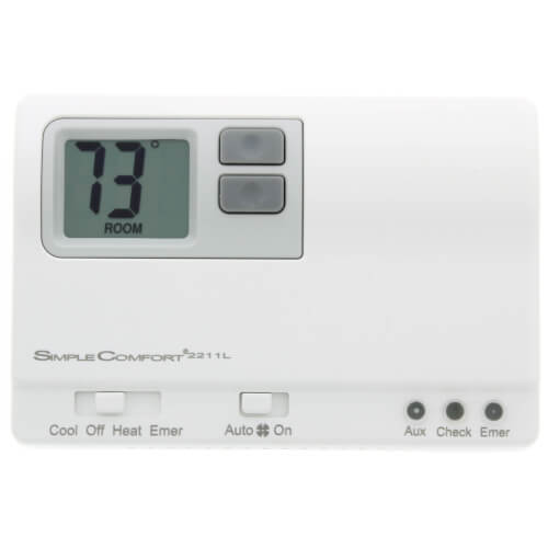 Non-Programmable SimpleComfort Thermostat - 3 Heat/2 Cool Heat Pump Only Product Image