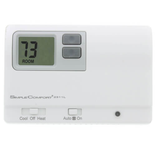 SC2311L Non-Programmable Two-Stage Heat, One-Stage Cool Hardwired Thermostat Product Image