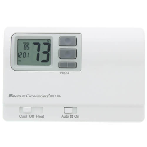 Programmable SimpleComfort Thermostat - 1 Heat/1 Cool/1 Heat Pump (Dual Powered) Product Image