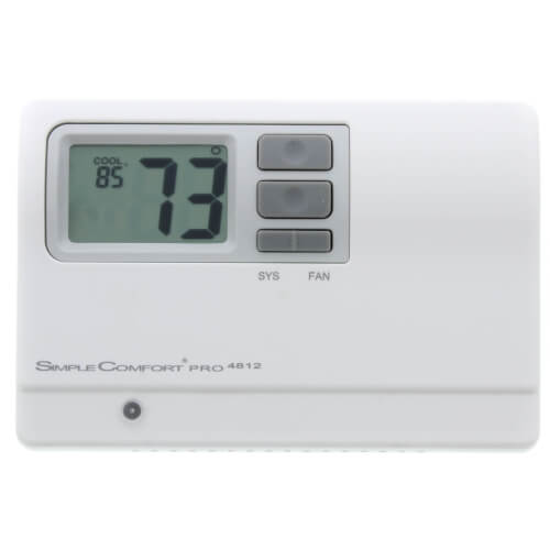 SimpleComfort PRO Series Non-Programmable Thermostat - 3 Heat/2 Cool/2 Heat Pump Product Image
