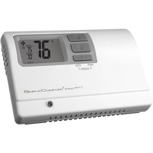 SimpleComfort PRO Programmable Thermostat - 2 Heat/2 Cool/2 Heat Pump with Auto Changeover Product Image