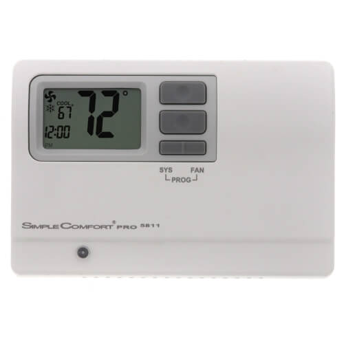 SimpleComfort PRO Series Programmable Thermostat - 2 Heat/2 Cool/2 Heat Pump Product Image