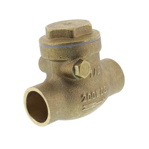 "1/2"" Solder Ends Swing Check Valve, Lead Free Product Image"