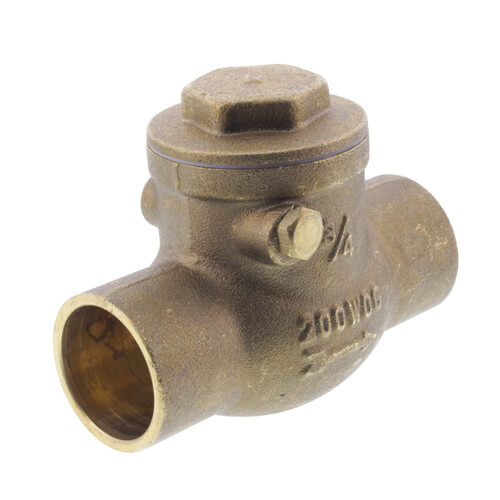 "3/4"" Solder Ends Swing Check Valve, Lead Free Product Image"