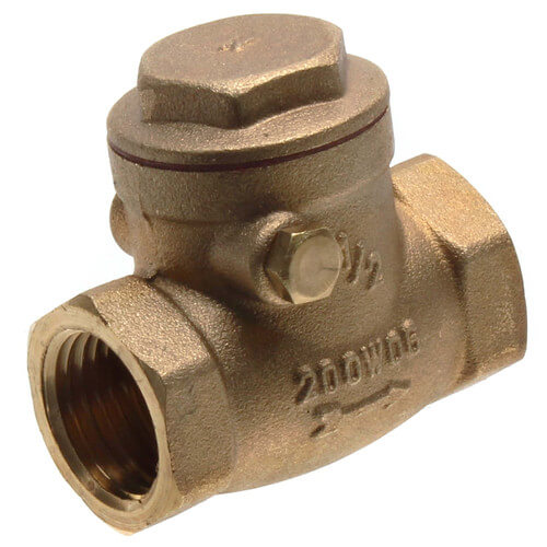 "1/2"" Threaded Swing Check Valve, Lead Free Product Image"