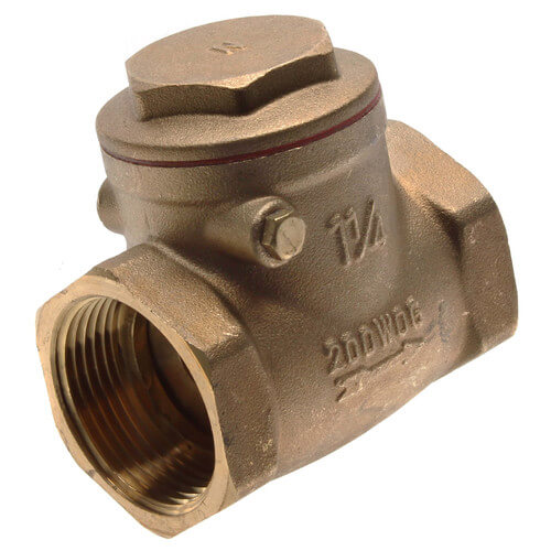 """1-1/4"""" Threaded Swing Check Valve, Lead Free Product Image"""
