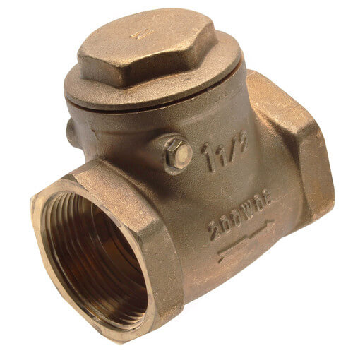 """1-1/2"""" Threaded Swing Check Valve, Lead Free Product Image"""
